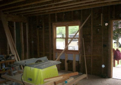 Closed Cell Wall Foam Before - Insulation Services in Northern Michigan - Warmer Mornings Air Sealing & Insulation